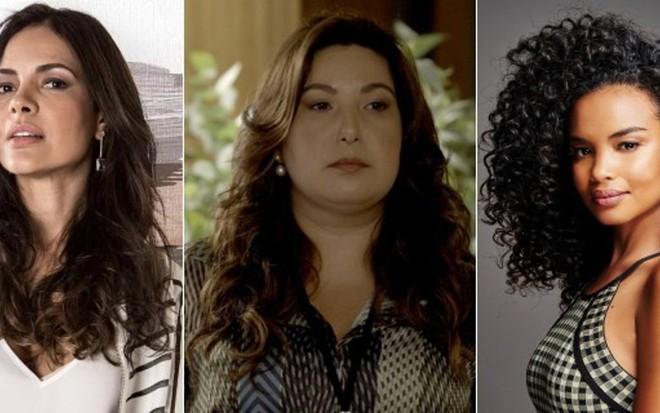 Michelle Martins, Mariana Xavier e Lucy Ramos tiveram suas histórias abandonadas na novela - Fotos: Divulgação