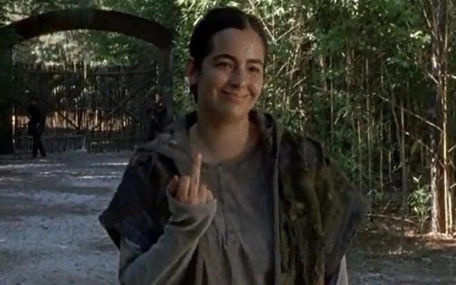 A atriz Alana Masterson, a Tara, no sexto episódio da atual temporada de Walking Dead - Reprodução/AMC