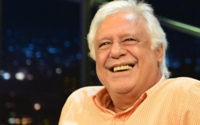 Antonio Fagundes no Programa do Jô, em julho; ator está cotado para Velho Chico - Ramón Vasconcelos/TV Globo