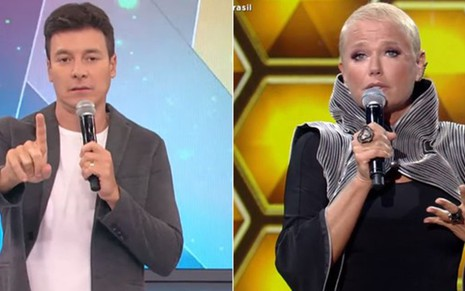 Rodrigo Faro no Hora do Faro, e Xuxa Meneghel no The Four Brasil
