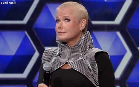 Xuxa Meneghel no comando do realilty show The Four Brasil, da Record