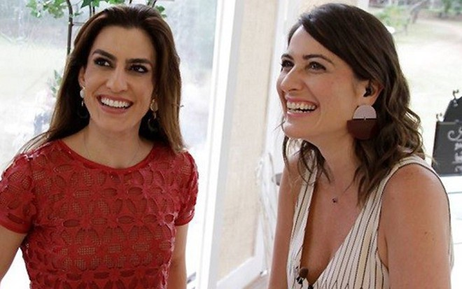 Ticiana Villas Boas e Carol Fiorentino em gravação de Bake Off; a segunda substitui a primeira -