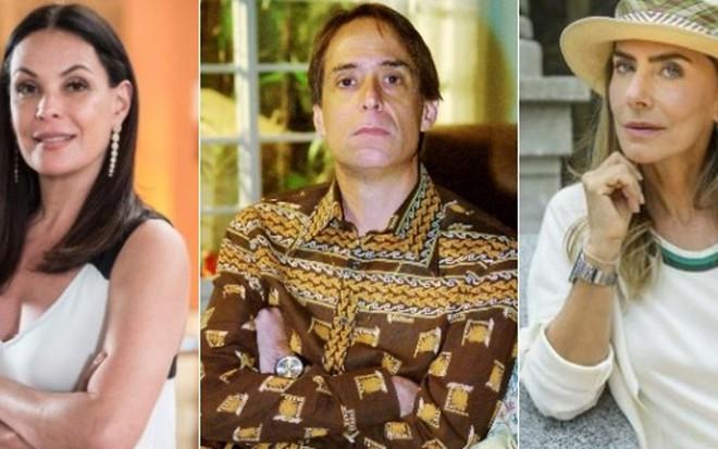 Carolina Ferraz, Pedro Cardoso e Maitê Proença: processo e críticas rendem banimento - Fotos: Divulgação/TV Globo