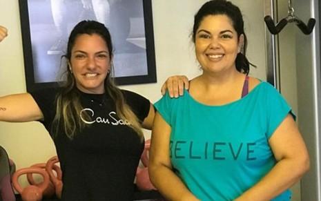 A personal trainer Cau Saad ajudou a atriz Fabiana Karla a emagrecer 20 quilos em um ano - REPRODUÇÃO/INSTAGRAM