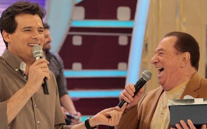 Celso Portiolli com Raul Gil em edição do Domingo Legal de 2014; programa vai acabar - Divulgação/SBT