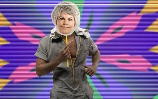 Máscara de senhora 'descolada' em corpo de lutador em chamada de BBB 16, da Globo - Reprodução/TV Globo
