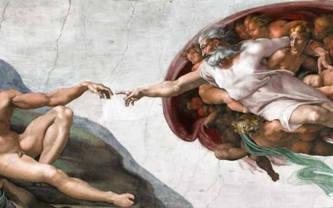 A Criação de Adão, obra de Michelangelo que representa a origem da humanidade - Reprodução