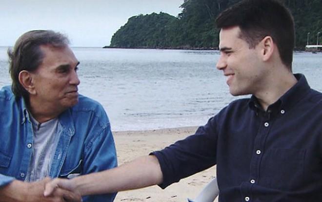 Dedé Santana em entrevista a Luiz Bacci no programa Domingo Show, da Record - Divulgação/Record