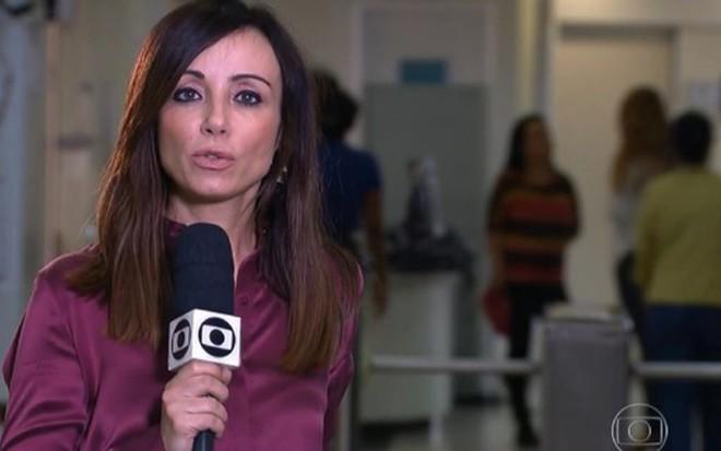 Elaine Bast na reportagem do Jornal Nacional, de 12 de outubro, em que alertou sobre câncer - Reprodução/TV Globo
