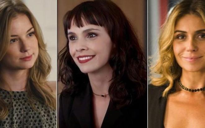 Irene (ao centro) é tão falsiane quanto Emily (à esq.), de Revenge, e Atena, de A Regra do Jogo - Imagens: Reprodução