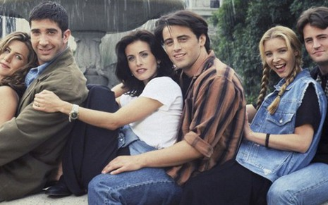Jennifer Aniston, David Schwimmer, Courteney Cox, Matt LeBlanc, Lisa Kudrow e Matthew Perry - Divulgação/NBC