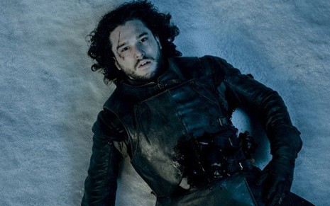 O personagem Jon Snow foi assassinado no último episódio de Game of Thrones - Reprodução/HBO