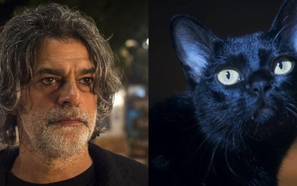 272e679e0 Eduardo Moscovis interpreta León na versão humana na novela das nove da  Globo - Montagem