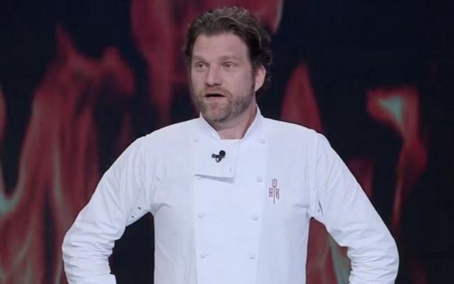 Carlos Bertolazzi na final da terceira edição do Hell's Kitchen, em janeiro deste ano - Reprodução/SBT