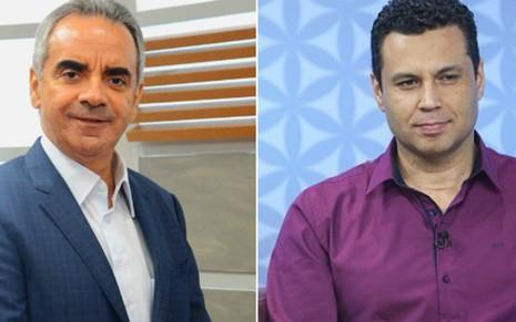 Os bispos Honorilton Golçalves, ex-vice da Record, e Renato Cardoso, novo chefe da Universal - Divulgação/Reprodução/RecordTV