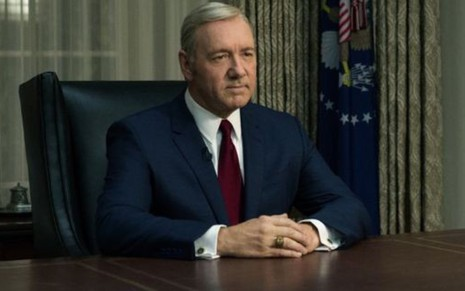 Kevin Spacey vive o presidente Frank Underwood em House of Cards, da Netflix - David Giesbrecht/Netflix
