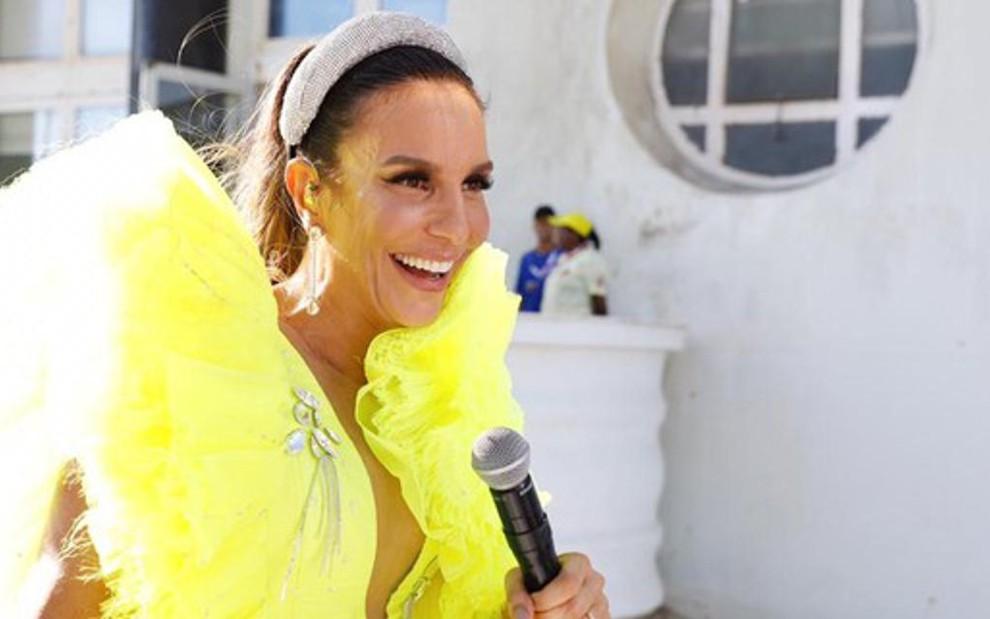 Ivete Sangalo durante sua apresentação no sábado (2) no circuito Barra-Ondina no Carnaval de Salvador - Divulgação
