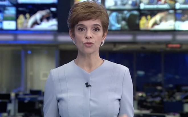 Renata Lo Prete no Jornal da Globo da última sexta (10): rejeição na GloboNews - Reprodução/TV Globo