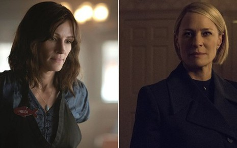Julia Roberts em Homecoming e Robin Wright em House of Cards; nove séries chegam ao streaming - Divulgação/Amazon/Netflix