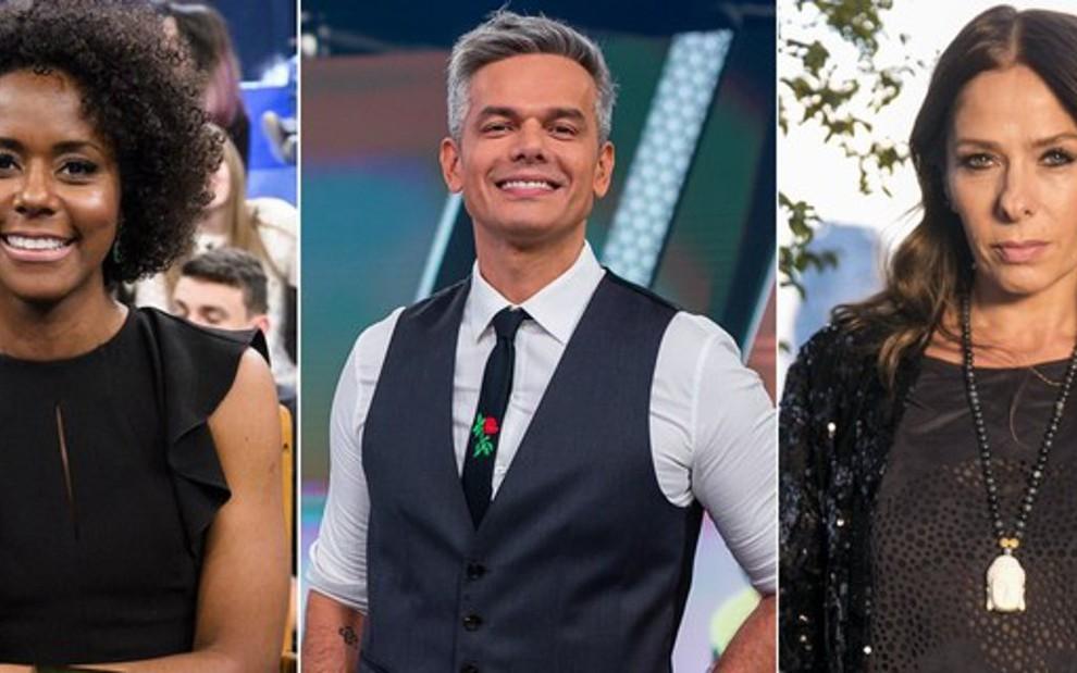 Maju Coutinho e Adriane Galisteu foram dispensados da Rádio Globo; Otaviano Costa não quis continuar - FOTOS: DIVULGAÇÃO/GLOBO