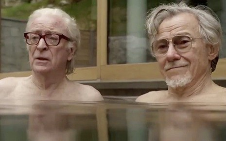 Os atores Michael Caine e Harvey Keitel no filme Youth, do diretor italiano Paolo Sorrentino -