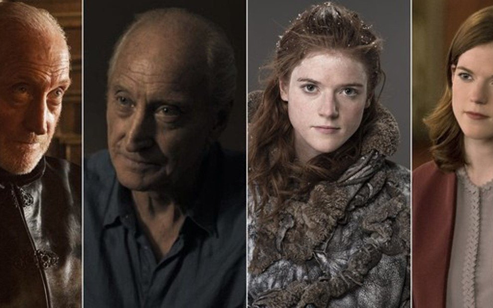 Charles Dance em Game of Thrones e no drama The Widow; Rose Leslie na série da HBO e em The Good Fight - Montagem/Divulgação/HBO/Amazon/CBS