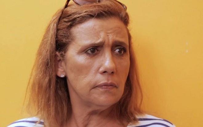 A atriz e ex-chacrete Rita Cadillac em entrevista ao webprograma de Rafinha Bastos - Reprodução