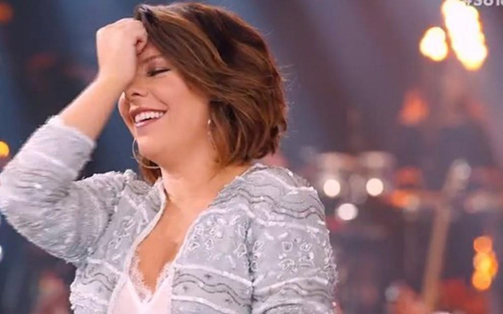 Fernanda Souza no último SóTocaTop da temporada: programa não emplacou no Ibope - REPRODUÇÃO/TV GLOBO