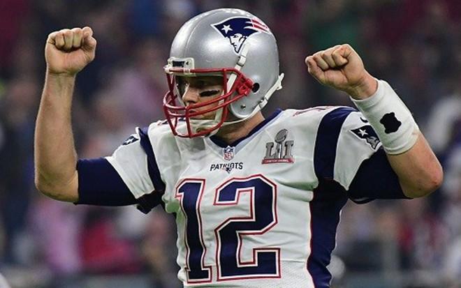 O jogador de futebol americano Tom Brady na final da NFL disputada em  janeiro - Divulgação c714d1e1e8681
