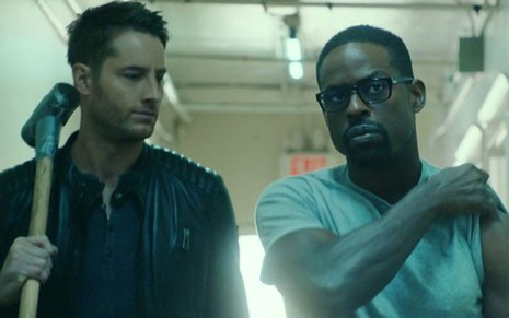 Justin Hartley e Sterling K. Brown na segunda temporada de This Is Us, forte candidata ao Emmy - Divulgação/NBC