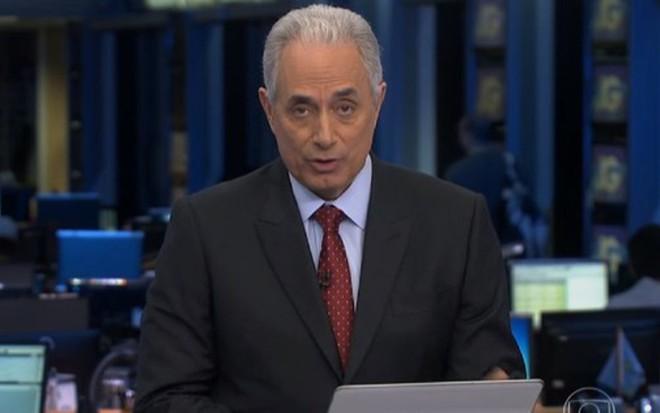 William Waack na edição do Jornal da Globo exibida no início da madrugada desta sexta (16) - Reprodução/TV Globo