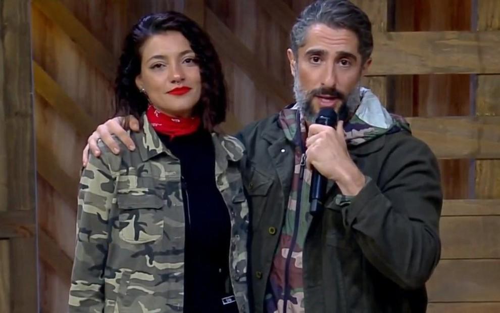 Marcos Mion e a ex-peoa Gabrielle Prado: A Fazenda liderou audiência por mais de uma hora - REPRODUÇÃO/RECORD