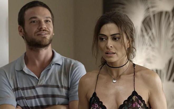 Emilio Dantas (Rubinho) e Juliana Paes (Bibi) em cena de A Força do Querer, novela das nove - Reprodução/TV Globo