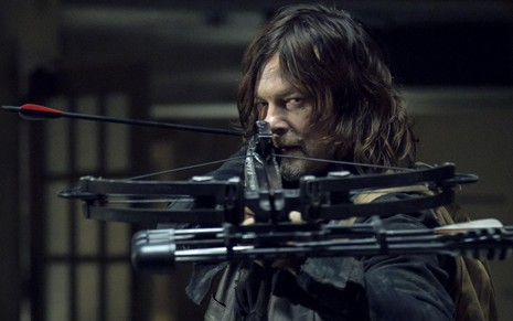 Daryl Dixon (Norman Reedus) em cena do 14º episódio da nona temporada de The Walking Dead - Gene Page/AMC