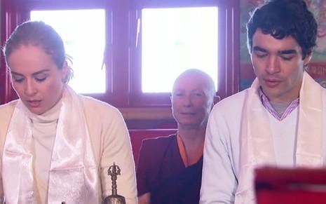 paulo henrique amorim despreza garota do tempo e gera climão na angélica e caio blat visitam templo budista na serra gaúcha no estrelas de sábado (23