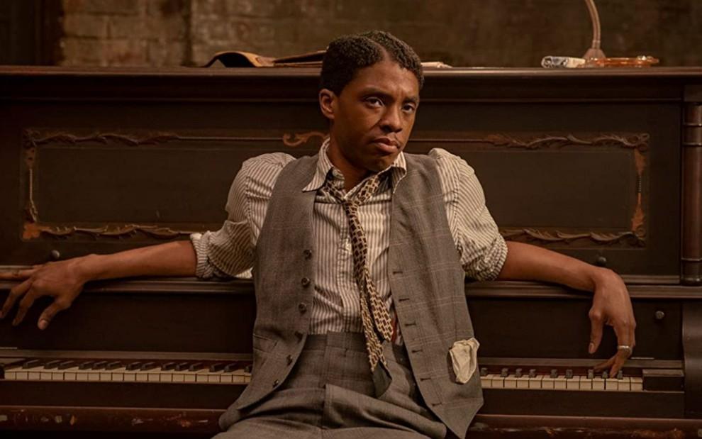 """Resultado de imagem para Chadwick Boseman (""""A voz suprema do blues"""")"""