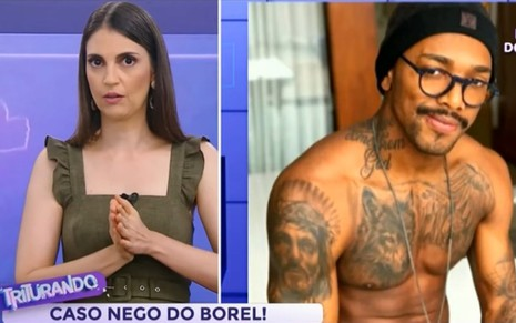 Chris Flores comenta sobre Nego do Borel no Triturando, do SBT