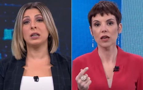 Daniela Lima e Gloria Vanique no CNN 360º