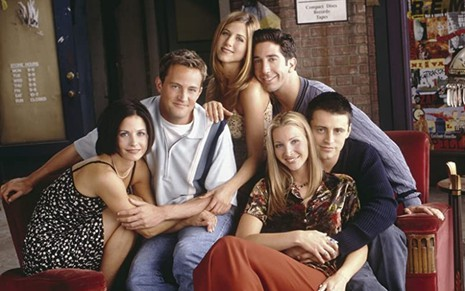 Foto promocional do elenco da série Friends (1994-2004)