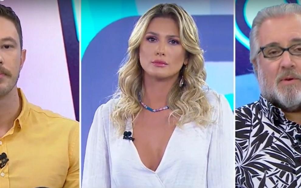 Gabriel Cartolano, Lívia Andrade e Leão Lobo no Fofocalizando desta quarta (18)