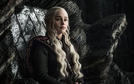 Emilia Clarke como Daenerys Targaryen em Game of Thrones