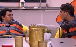 Os participantes do Big Brother Brasil 20 Babu Santana e Felipe Prior