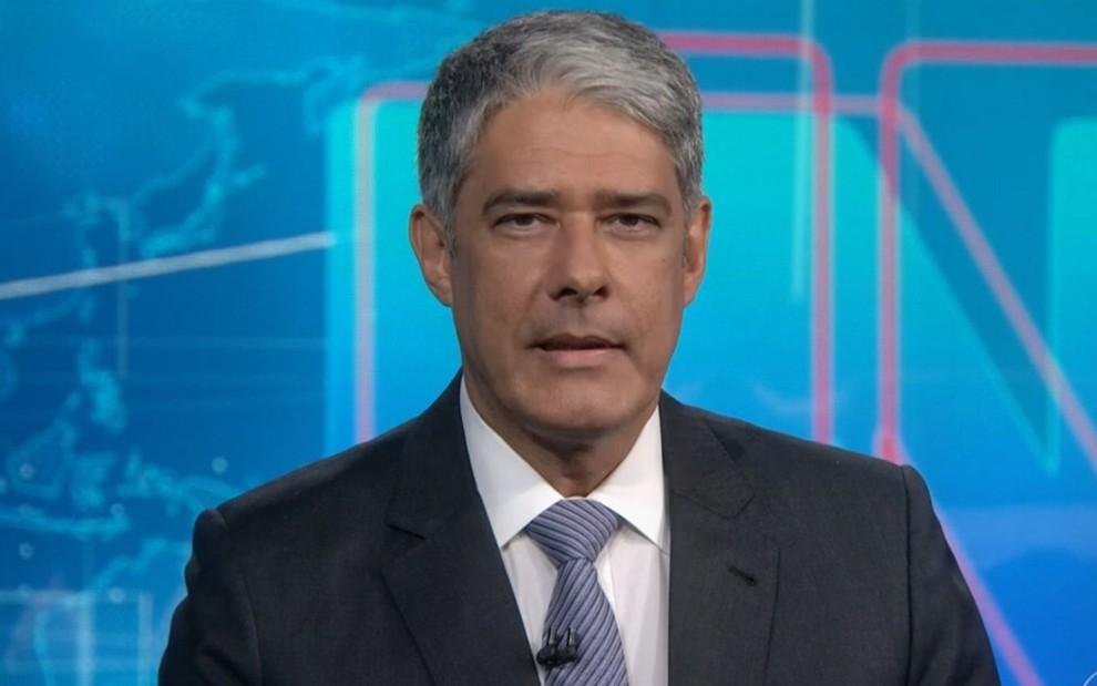 William Bonner na bancada do Jornal Nacional desta quarta (27)