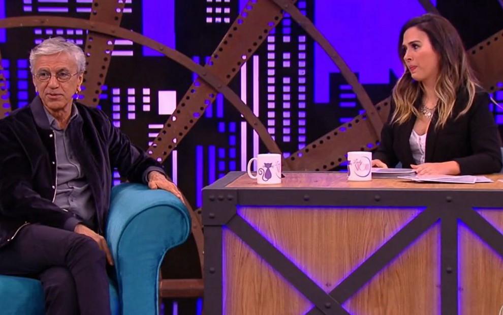 Caetano Veloso concede entrevista para Tatá Werneck no Lady Night, da Globo