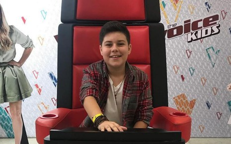 O ex-participante do The Voice Kids em foto publicada nas redes sociais