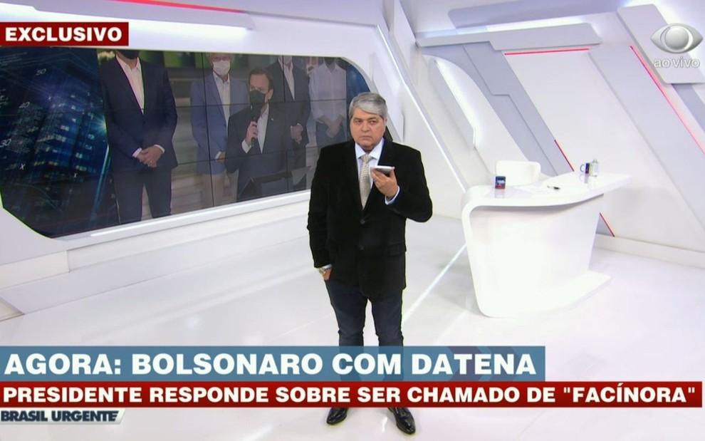 Web se revolta com postura de Datena em entrevista de Bolsonaro: 'Cúmplice'  · Notícias da TV