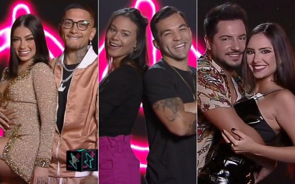 MC Mirella e Dynho Alves, Carolina Santos e Jonathan Costa, e Thiago Bertoldo e Geórgia Fröhlich