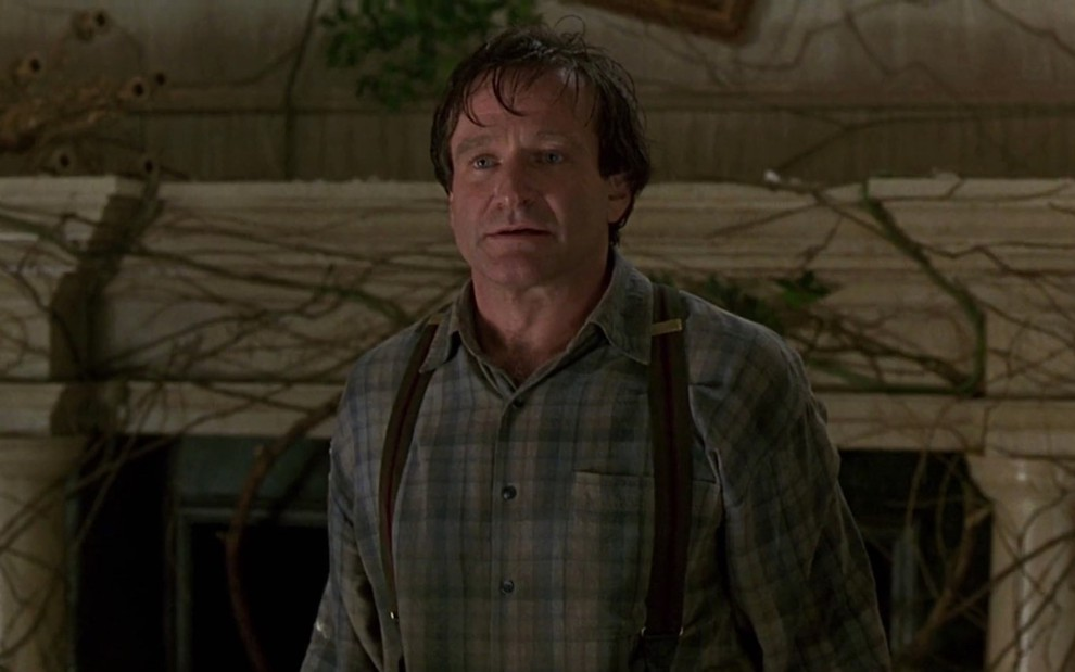 Robin Williams em cena de Jumanji
