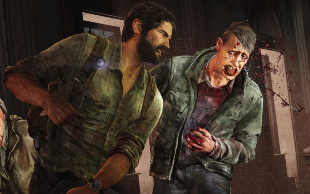 Joel mata um monstro em cena do game The Last of Us
