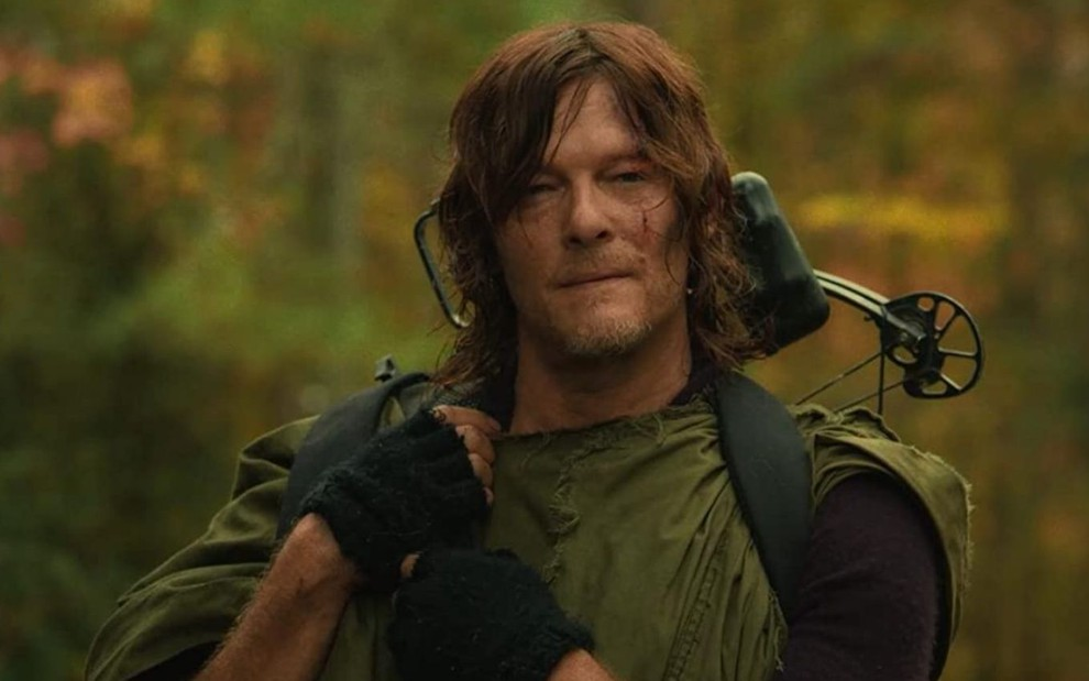 Norman Reedus como Daryl em cena da 10ª temporada de The Walking Dead